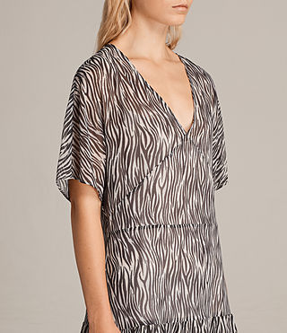 Womens Marley Zebra Dress (OYSTER WHITE/BLACK) - Image 5