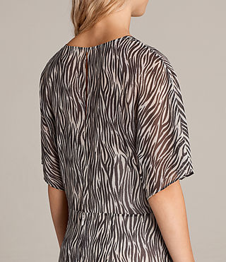 Womens Marley Zebra Dress (OYSTER WHITE/BLACK) - Image 6