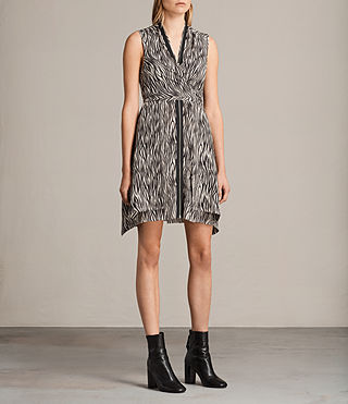 jayda zebra silk dress