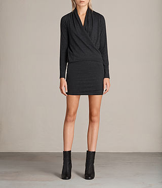 Womens Aisha Dress (Dark Grey Marl)