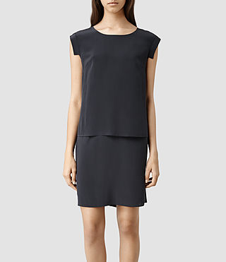 Womens Nya Se Dress (Petrol/Black)
