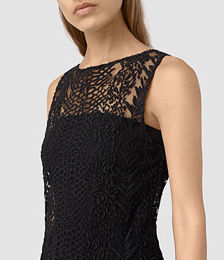 Women's Cariad Embroidered Maxi Dress (Black) - product_image_alt_text_2