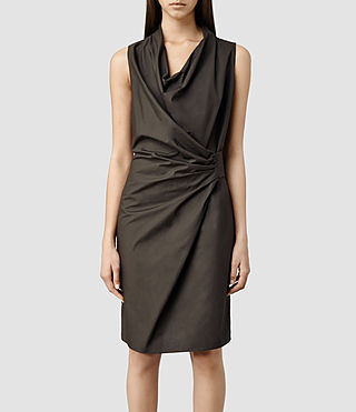 Womens Edyen Dress (Khaki)