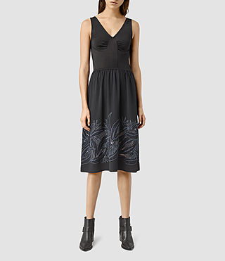 Womens Nancy Long Dress (Jet Black)