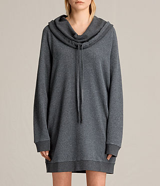 Womens Kaye Sweat Dress (MID CHARCOAL MARL)