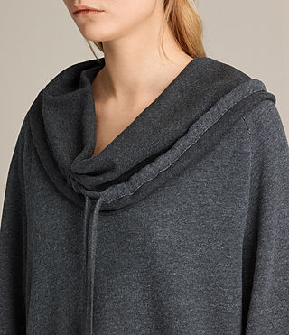 Femmes Robe sweat Kaye (MID CHARCOAL MARL) - product_image_alt_text_2