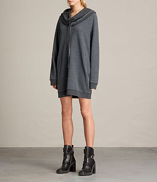 Women's Kaye Sweat Dress (MID CHARCOAL MARL) - product_image_alt_text_3