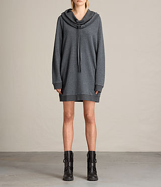 Women's Kaye Sweat Dress (MID CHARCOAL MARL) - product_image_alt_text_4