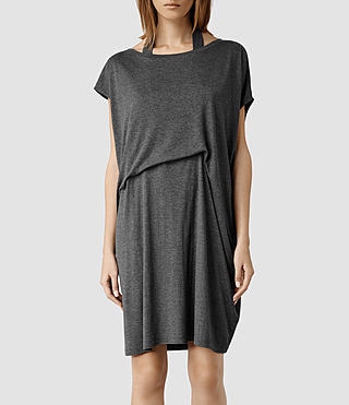 Womens Pari Dress (Dark Grey Marl)