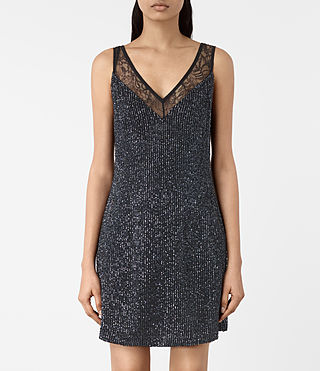Womens Aivren Embellished Dress (Black) - product_image_alt_text_3