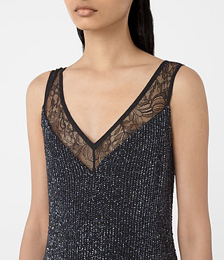 Womens Aivren Embellished Dress (Black) - product_image_alt_text_4