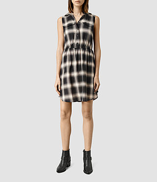 Womens Itaca Check Dress (Black Check)