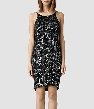 Womens Massi Dress (Silver/Black)