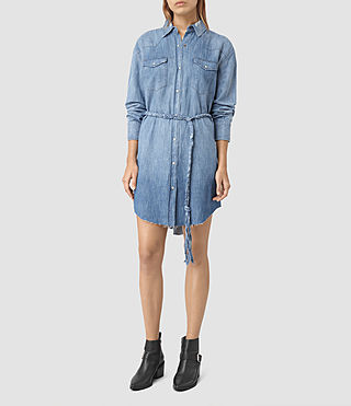 Womens Xena Denim Dress (Indigo Blue)