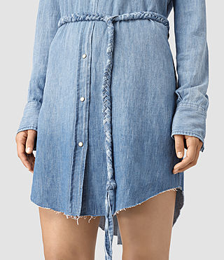 Mujer Xena Denim Dress (Indigo Blue) - product_image_alt_text_2