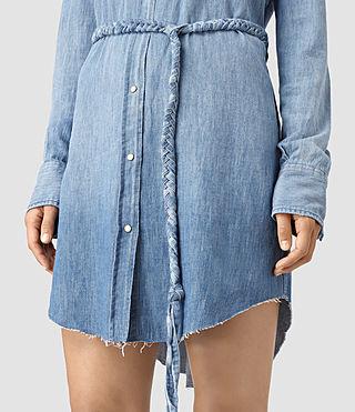 Mujer Xena Denim Dress (Indigo Blue) - product_image_alt_text_2