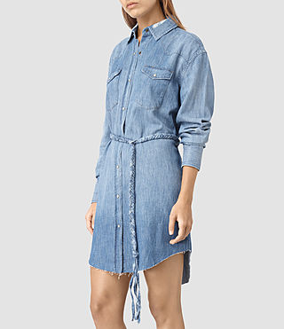 Womens Xena Denim Dress (Indigo Blue) - product_image_alt_text_4
