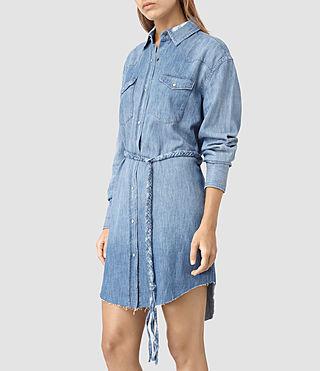 Mujer Xena Denim Dress (Indigo Blue) - product_image_alt_text_4