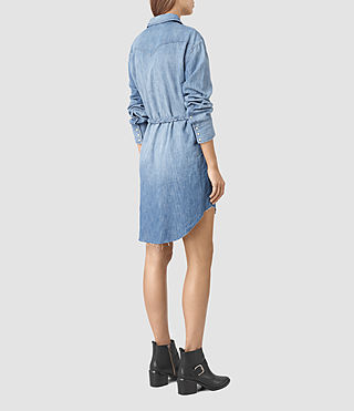 Womens Xena Denim Dress (Indigo Blue) - product_image_alt_text_5