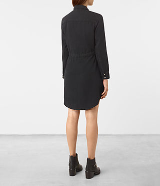 Damen Sanko Denim Dress (Washed Black) - product_image_alt_text_4