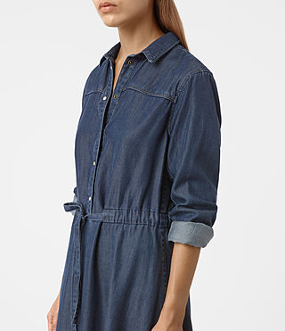 Women's Sanko Denim Dress (DARK INDIGO BLUE) - product_image_alt_text_2