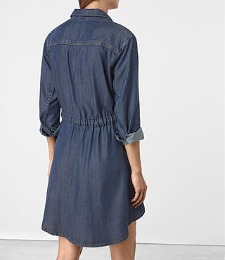 Women's Sanko Denim Dress (DARK INDIGO BLUE) - product_image_alt_text_4