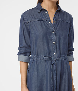 Women's Sanko Denim Dress (DARK INDIGO BLUE) - product_image_alt_text_5