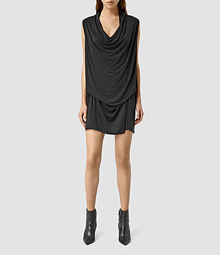 Womens Amei Sleeveless Dress (Black)