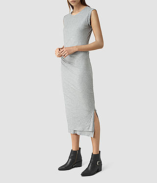 Womens Gamma Dress (Grey Marl)