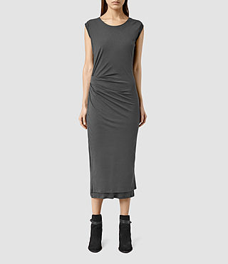 Womens Gamma Dress (PIRATE BLACK) - product_image_alt_text_1