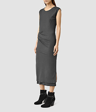 Women's Gamma Dress (PIRATE BLACK) - product_image_alt_text_2