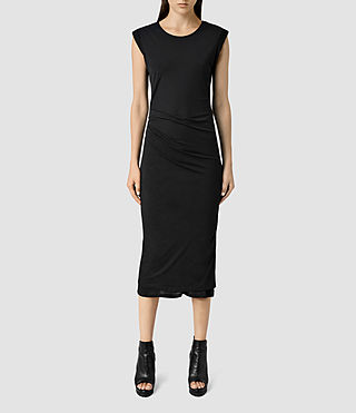 Womens Gamma Dress (Black) - product_image_alt_text_1