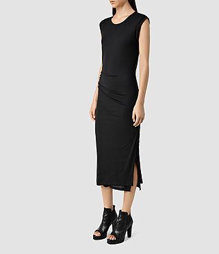 Womens Gamma Dress (Black) - product_image_alt_text_2