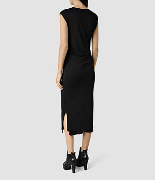 Womens Gamma Dress (Black) - product_image_alt_text_3