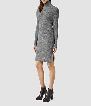 Womens Bernt Dress (CND BLK MRL/CLDWHT)