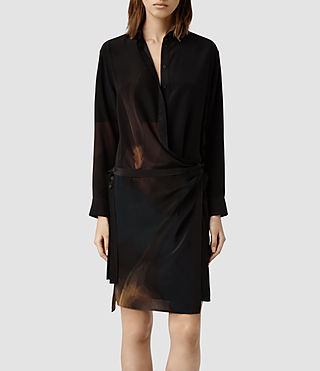 Womens Rui Ochre Shirt Dress (Ochre)