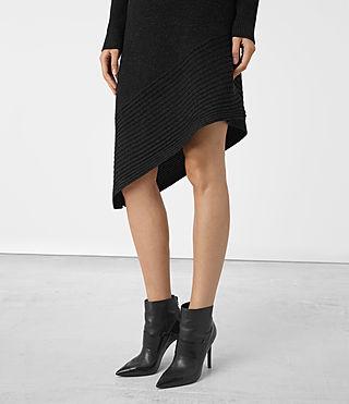 Mujer Keld Knitted Dress (Cinder Black Marl) - product_image_alt_text_2