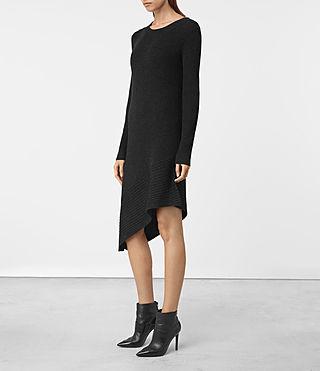 Mujer Keld Knitted Dress (Cinder Black Marl) - product_image_alt_text_3