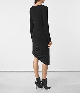 Mujer Keld Knitted Dress (Cinder Black Marl) - product_image_alt_text_4