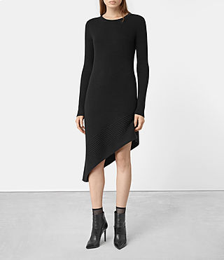 Womens Keld Merino Dress (Black)
