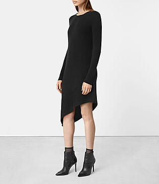 Mujer Keld Dress (Black) - product_image_alt_text_4