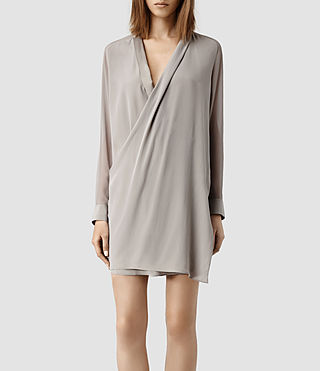Womens Lucas Shirt Dress (Taupe/Taupe)