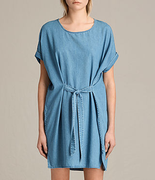 Damen Sonny Denim Dress (MID INDIGO BLUE)
