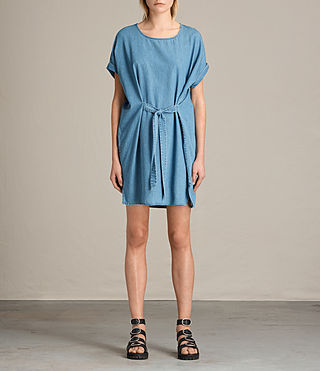 Women's Sonny Denim Dress (MID INDIGO BLUE) - product_image_alt_text_2