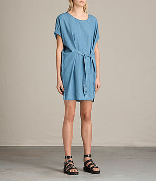 Women's Sonny Denim Dress (MID INDIGO BLUE) - product_image_alt_text_3