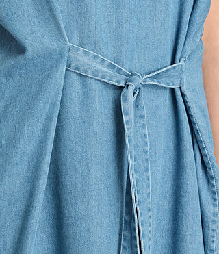 Women's Sonny Denim Dress (MID INDIGO BLUE) - product_image_alt_text_4