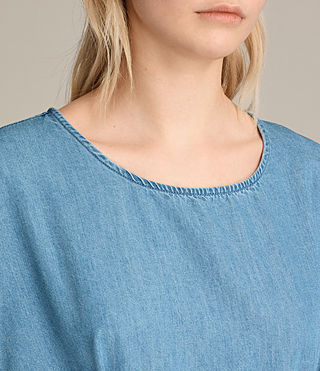 Women's Sonny Denim Dress (MID INDIGO BLUE) - product_image_alt_text_5