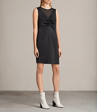 Women's Nuri Dress (Black) - product_image_alt_text_4