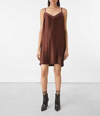 Damen Merin Dress (AUBERGINE RED)