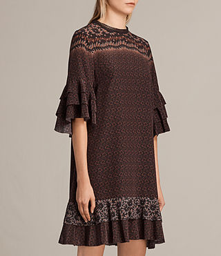 Damen Rayen Anokhi Silk Dress (Burgundy) - product_image_alt_text_5